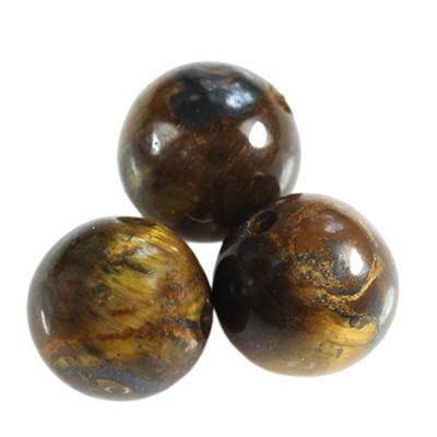 tiger eye beads 12 mm / semi-precious stone