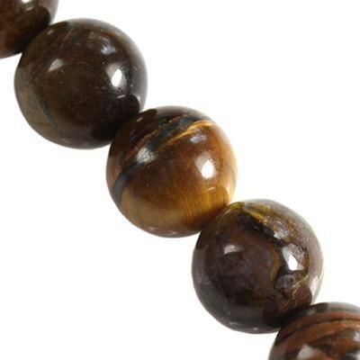 tiger eye round beads 12 mm / semi-precious stone