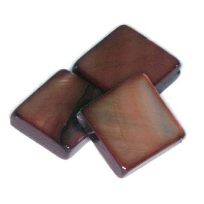 mother of pearl square brown