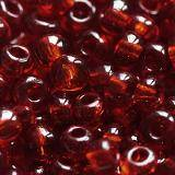 glass seed beads deep red 3.5 mm