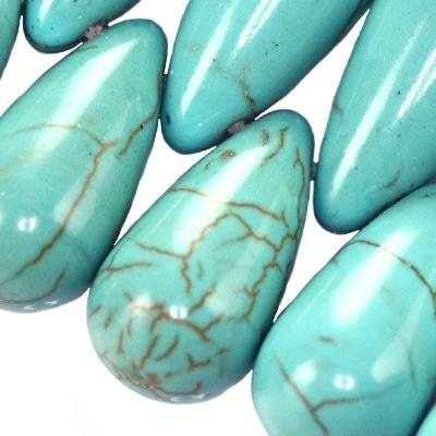 larmes turquoise 12 x 22 mm