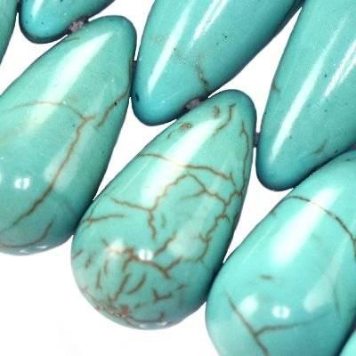 łezki turkus 12 x 22 mm kamień jubilerski