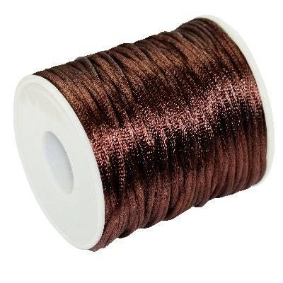 satin cord chestnut 2 mm