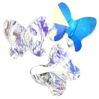 Swarovski butterfly beads crystal ab 8 mm