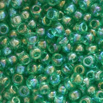 Toho beads round trans-rainbow dark peridot 2 mm TR-11-164B