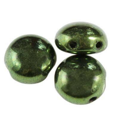 Preciosa beads Candy luster - metallic olivine 8 mm