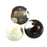 agat smocze oko biały kule 4 mm kamień naturalny barwiony