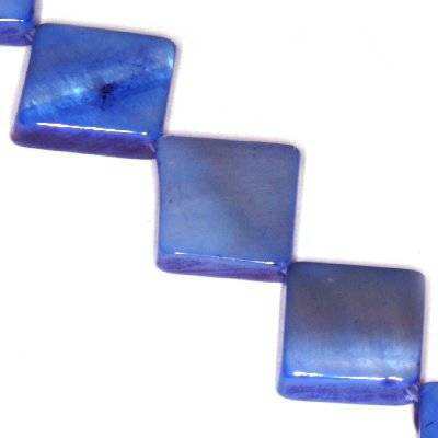 mother of pearl square blue
