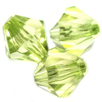 plastic bicone beads green 16 mm