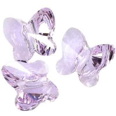 Swarovski butterfly beads violet 8 mm