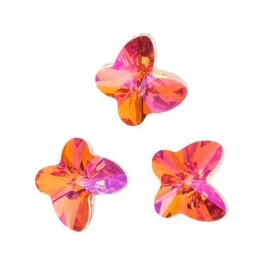 Swarovski butterfly beads astral pink 8 mm