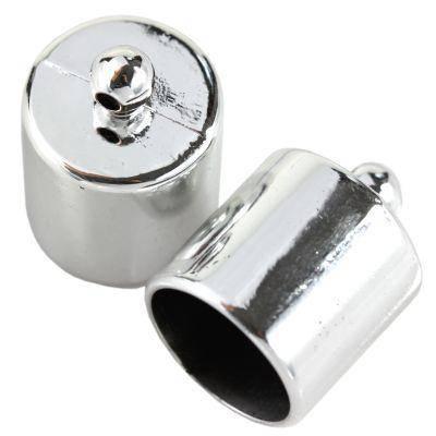 plastic ends silver color 16 x 14 mm