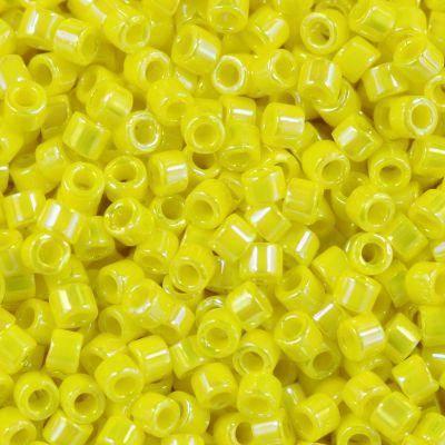 Miyuki Delica opaque yellow ab 1.6 x 1.3 mm DB-160