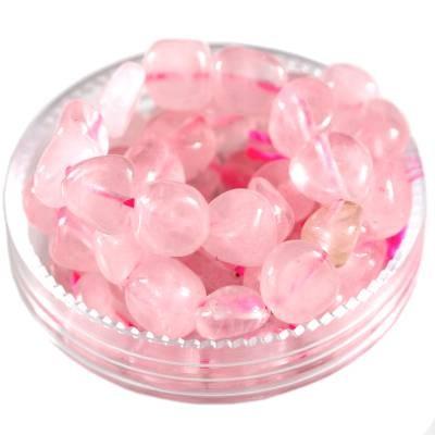 kamień premium kwarc różowy 5 - 9 mm kamień półszlachetny naturalny