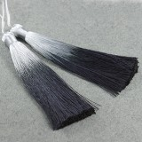 tassels ombre black 13 cm