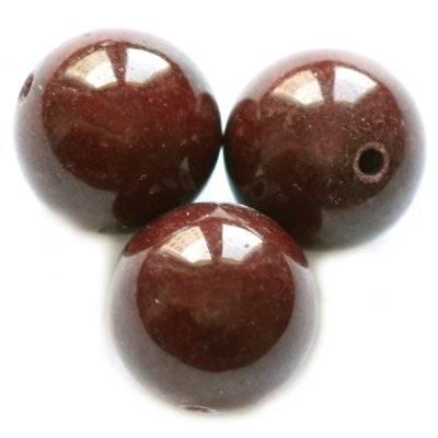 jadeit górski kasztanowy 12 mm kamień naturalny barwiony