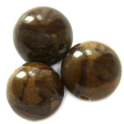 bambu jaspis runda pärlor 12 mm
