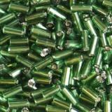 glaspärlor tuber gröna 4.5 mm