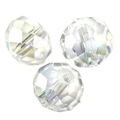 cristaux perles ab facettes planes Briolette 10 mm