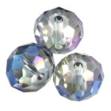 crystals flat faceted ab beads briolette 10 mm