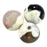 agate dragon eye white round 8 mm pierre teinte