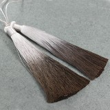 tassels ombre brown 13 cm