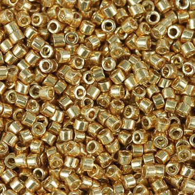 Miyuki Delica Beads duracoat galvanized yellow gold 1.6 x 1.3 mm DB-1833