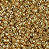 Miçangas Miyuki Delica duracoat galvanized yellow gold 1.6 x 1.3 mm DB-1833