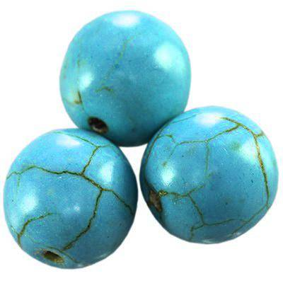 turquoise beads synthetic 10 mm / semi-precious stone synthetic