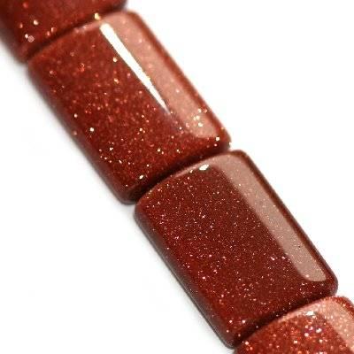 gold sandstone bricks 14 x 20 mm / semi-precious stone synthetic