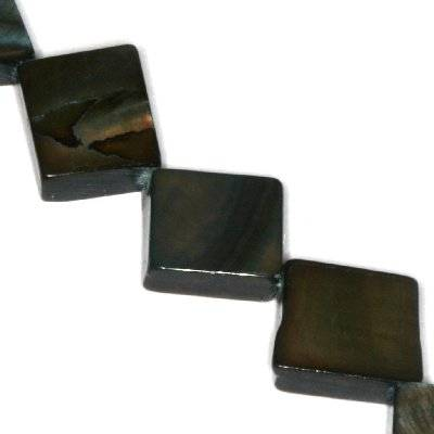 masa perłowa kwadraty 10 x 10 mm czarne