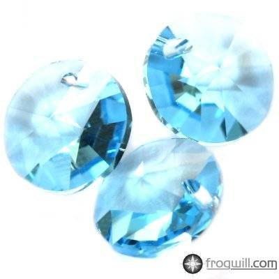 Swarovski rivoli pendants aquamarine 8 mm