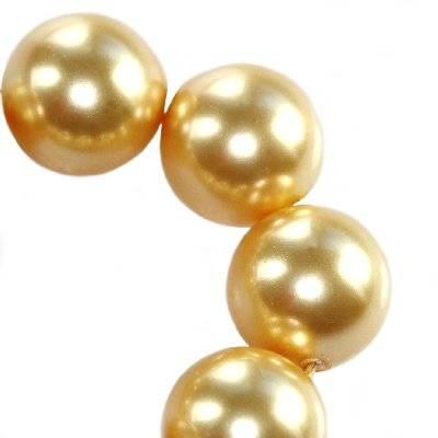 Swarovski crystal pearl gold 12 mm
