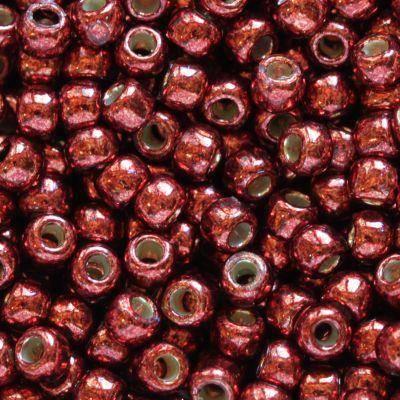 perles Toho round permafinish - galvanized brick red 2.2 mm TR-11-PF564