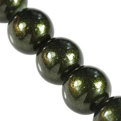Perles d'or vert en poudre classique amazoniennes 12 mm