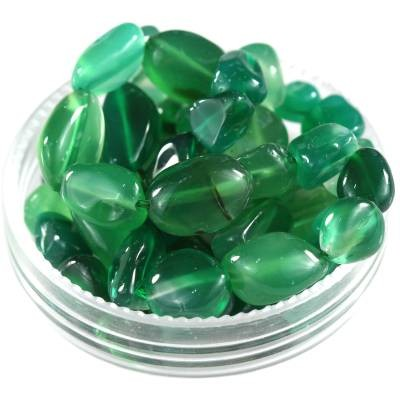 premium chips green agate 5 - 9 mm