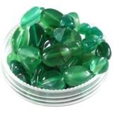 kamień agat zielony premium 5 - 9 mm kamień półszlachetny naturalny