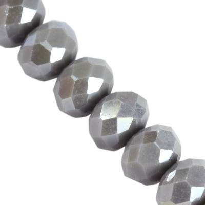CrystaLine rondelle light gray AB 4 x 6 mm
