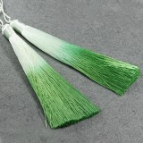 tassels ombre light green 13 cm