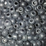 glass seed beads grey 3.5 mm