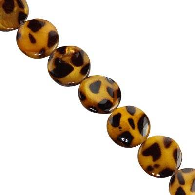 mother of pearl coin cheetah 14 mm