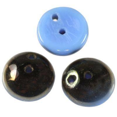 piggy beads blue bronze 4 x 8 mm