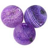 agat ognisty purpurowy 10 mm kamień półszlachetny naturalny barwiony