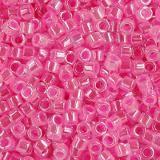 koraliki Miyuki Delica lined crystal dk.pink 1.6 x 1.3 mm DB-0246