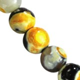 agate dragon eye yellow round 4 mm natuursteen gekleurd