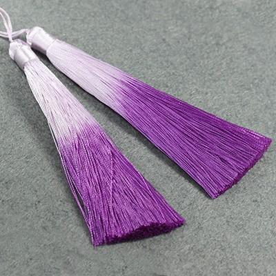 Quasten ombre violet 13 cm