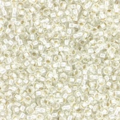 Miyuki round biseris silverlined crystal 15/0 #15-1