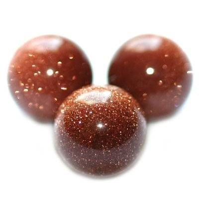 gold sandstone beads 6 mm / semi-precious stone synthetic