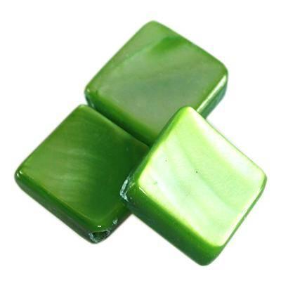 masa perłowa kwadraty 10 x 10 mm zielone
