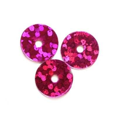 sequins laser smooth circles pink 8 mm